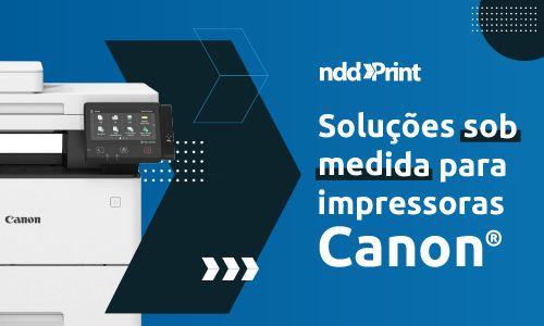nddPrint em impressoras Canon